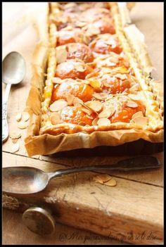 Tarte aux abricots et amandes.
