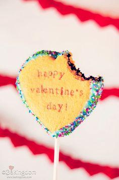 Valentine's Day Cookie Cakes...