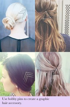 hair hack - create graphic hair accessories how to   10 Hair Hacks Every Girl Needs To Know
