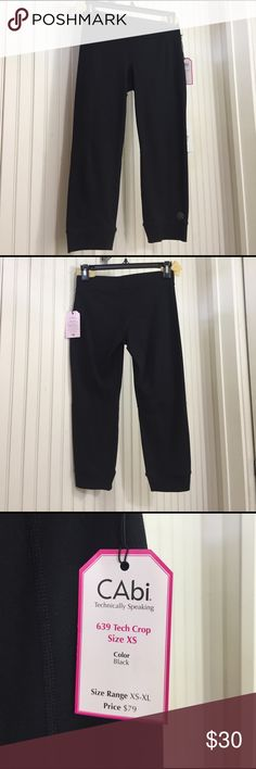 CAbi Tech Crop Leggings  #639 CAbi 87% Nylon 13% Spandex Tech Crop Leggings great for your workout! NWT from smoke free home. CAbi Pants Leggings