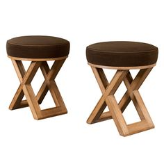 2 Tall Pairs of X-Form Stools in the manner of Jean-Michel Frank