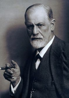 Sigmund Freud 1856-1939 Smoking Cigar