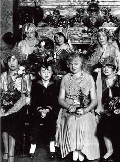 Madeleine Vionnet with her workers in their workshop in Paris for the holiday made for women who reach 25 years of age without marrying which symbolized their spinsterhood they wore unusual hats to show their status Madeleine Vionnet, François Lesage, Sainte Catherine, Rough Cut, Still Image, Coco Chanel, Good Day, Workshop, Paris