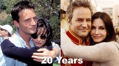 Friends - Matthew Perry & Courteney Cox | 20 years Such great shots, but she looked so much better before :/