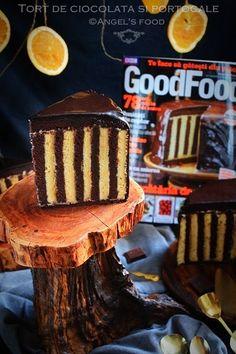 Tort de ciocolata cu portocale~Chocolate orange cream cake