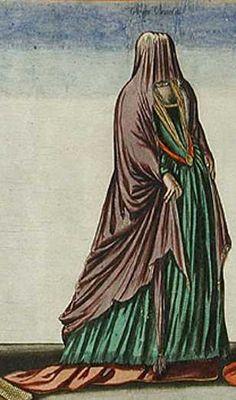 'Habitus Varium Orbis Gentium', 1581 Unmarried/Virgin Venetian Noblewoman