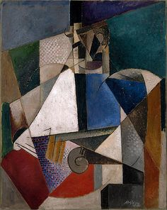 Portrait of an Army Doctor by Albert Gleizes, Guggenheim Museum Size: cm Medium: Oil on canvas Solomon R. Guggenheim Museum, New York Solomon R. Guggenheim Founding Collection, By. Pablo Picasso, Picasso And Braque, Georges Braque, Abstract Portrait, Abstract Art, Musée Guggenheim Bilbao, Georges Pompidou, Composition Art, Centre Pompidou
