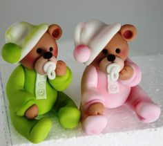 Baby shower teddy bears, adorable