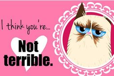 18 Grumpy Cat Valentines for your crabby companion.