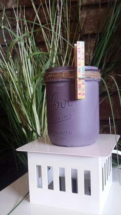 in distresses and sealed with we've added a it can be left as is or it can hold a cute little note! Upcycling Projects, Farmhouse Chic, Mason Jars, Upcycle, Planter Pots, Shabby Chic, Note, Rustic, Canning