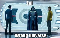 Star Wars vs Star Trek - nerd humor. Obviously Star Trek is much better.