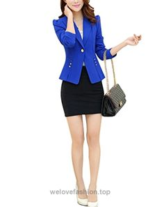 Aro Lora Women's Long Sleeve Open Front One Button Slim Fit Jacket Blazer Coat US 8-10 Blue  BUY NOW     $30.98    This unique design blazer is slim fitted and it can wear both in formal and casual occasion. It can wear to work or wear to party. Versatile casual and office blazer  ..