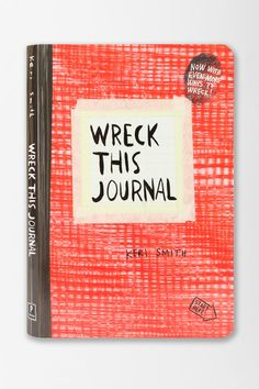 Wreck This Journal (Expanded Edition) By Keri Smith  Urban Outfitters    Someone please buy this for me??