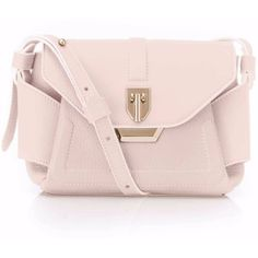 Lindsey Nicole - Ludlow Mini Messenger Blush (11.443.410 IDR) ❤ liked on Polyvore featuring bags, messenger bags, leather bags, leather evening bags, mini bags, cell phone bag and evening handbags
