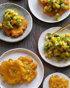 Tostones with Mango and Avocado Salsa
