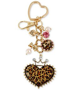 Betsey Johnson Key Chain, Gold-Tone Dangling Princess Charm Key Chain - Fashion Jewelry - Jewelry & Watches - Macy's