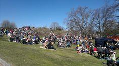 Beautiful sunshine at Vappu picnic in 2012