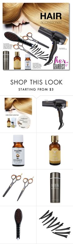 """""""Gearbest Hair accessories"""" by svijetlana ❤ liked on Polyvore featuring beauty, bathroom, hair, polyvoreeditorial and gearbest"""