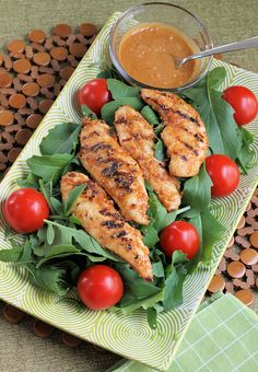 Spicy Peanut Lime Grilled Chicken Salad Recipe.