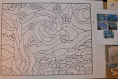 ...   Boehm Stained Glass Blog: Starry Night pattern traced and numbered