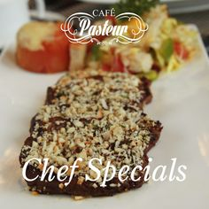 We invite you to savour our #CaféPasteur Chef's Special: Beef Balance Steak with fattoush salad & grilled tomato.