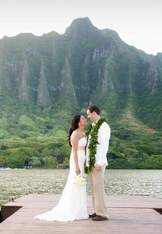 Kualoa Ranch This historic 4,000-acre working cattle ranch, located about 45 minutes from Honolulu, has been featured in TV shows Lost and Hawaii Five-0 — and it can be the beautiful backdrop for your wedding. Choose from the private beach on Secret Island and the open-air Molii Pavilion & Gardens. Wedding packages feature a traditional Hawaiian ukulele player.