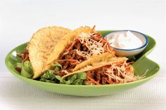 Kijk wat een lekker recept ik heb gevonden op Allerhande! Taco met andijvie en gehakt