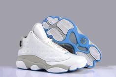 Online Shopping Air Jordan XIII 13 Fashion Mens Shoes White Grey