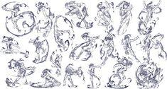 バトルっぽいアクションポーズ集20ポーズ 火憐その2 / さきの新月 さんのイラスト - ニコニコ静画 (イラスト)
