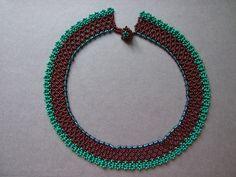 Virágos aljú tászli - Authentic Hungarian pattern with modern coloration - by Eszter Bódi / Creative Factory Bodo, Chocker, Beaded Necklace, Necklaces, Beadwork, Beading, Pendants, Jewelry, Modern