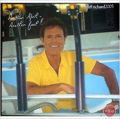 Cliff Richard pin up poster 29 sat down yellow top