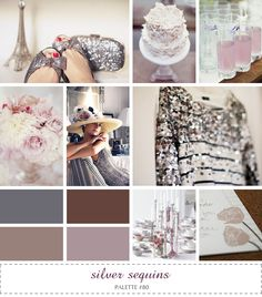 inspiration board - silver sequins #purple #pewter #mauve