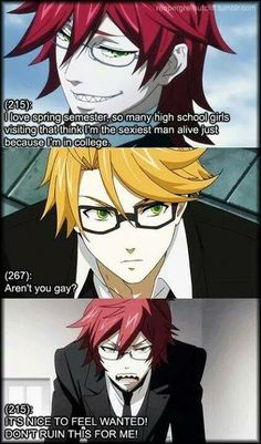 Oh Grell... Always the gender confused one