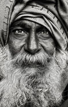 portret: en face. heel mooi zwart-wit portret