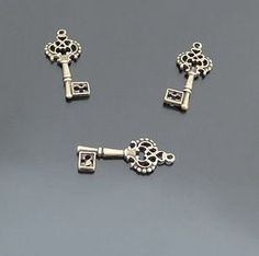 30pcs 25x11 MM key components fashion jewelry by aliyafang on Etsy, $6.75