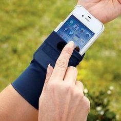 Cell phone sleeve.  Interesting.