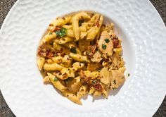 Cheesy Penne and Chicken with Sun Dried Tomatoes Recipe by Raymond Selzer