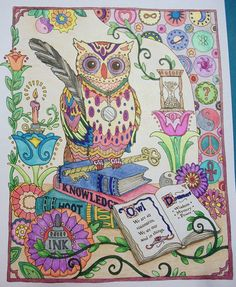 From Owls, a Creative Haven coloring book by Dover