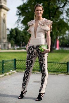 Street looks défilés haute couture : baroque futuriste
