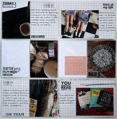 Kellie Winnell. Borderless images anchored on grid journal/filler cards.