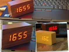 Wooden Block Clock