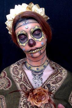 Gearing Up! For HalloweenCalavera Steampunk MakeUp by Wa-Ciu-Wa ~Steampunk Love •❀• From Airship Commander HG Havisham