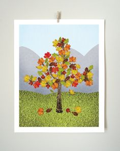 """This colorful collage captures that short time each year when the leaves change and make every tree look lovely. This collage is available in Art Prints (5x7"""" and 8x10"""") and Greeting Cards (5 cards per package and 10 cards per package)... simply select your preference before adding to your cart!"""