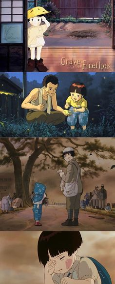Grave of the Fireflies (1988) I haven't balled my eyes out as much until I watched this, but excellent movie!