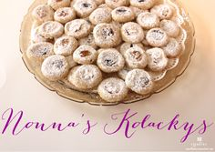 Mmm! This recipe for Nonna's Kolackys looks so good.