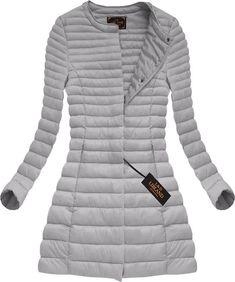 Dlhá dámska prechodná bunda šedá x7148X Winter Jackets, Outfit, Clothes, Fashion, Silk, Winter Coats, Outfits, Outfits, Moda