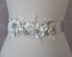 Wedding Dress Sash Add A Special Touch With Piece Of Lace From Your Grandmother Broach Mom Loved One That S Paced It Grea