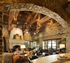 Hammer-Beam Truss ceiling & Beautiful Stonework!
