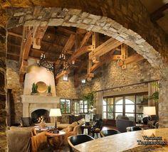Hammer-Beam Truss ceiling & Beautiful Stonework!