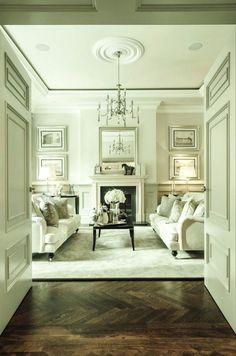 I'm dreaming of a white {living room}   Laurel Bern Interiors   interior design by Alexander James